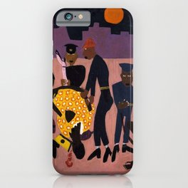 African American Masterpiece 'Moon Over Harlem' by William Henry Johnson iPhone Case