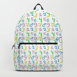 number 1- count,math,arithmetic,calculation,digit,numerical,child,school Backpack