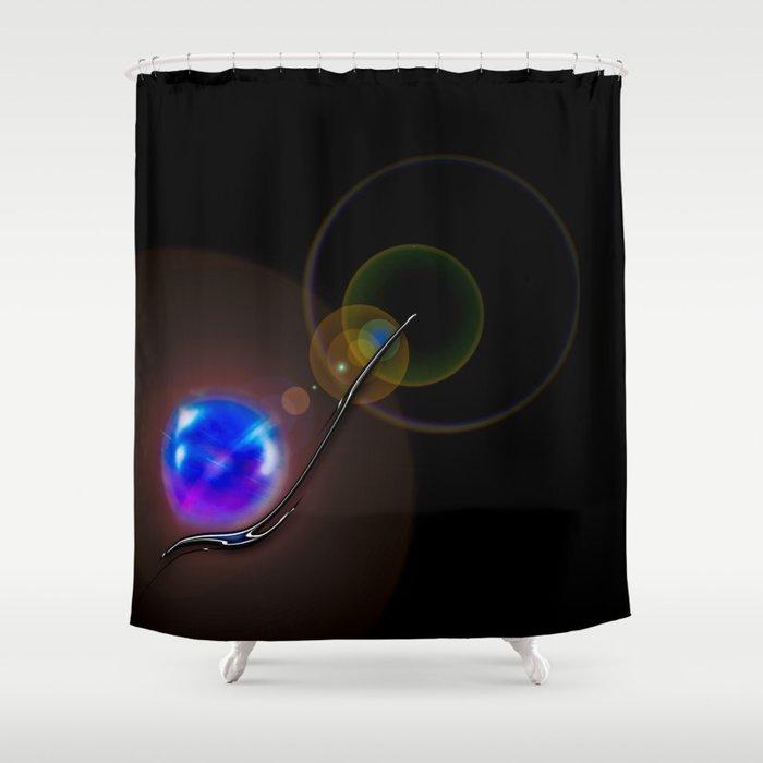Light and energy - Minimalism Shower Curtain