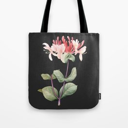 Honeysuckle on Charcoal Tote Bag