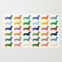 dachshund Area & Throw Rugs featuring Dachshund by Opul