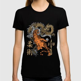 Jiu Jitsu Tiger and Dragon Yin Yang Martial Arts Bjj MMA T-shirt