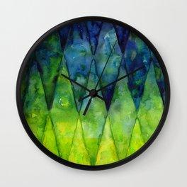 Colorful Geometric Pattern Watercolor Wall Clock