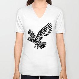 Tribal Cockatoo parrot bird tattoo Unisex V-Neck