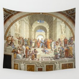 Raphael's The School of Athens Wall Tapestry