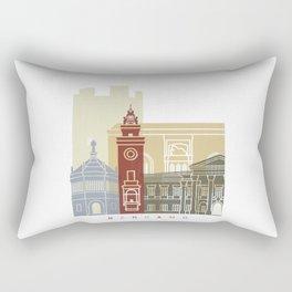 Bergamo skyline poster Rectangular Pillow