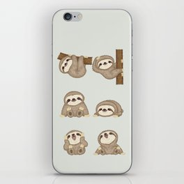 Sloth of various poses iPhone Skin