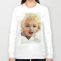 crazy Long Sleeve T-shirts featuring Monroe. by David