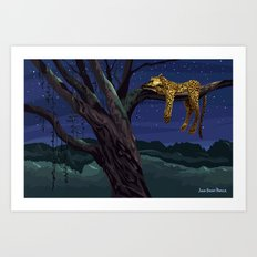 Leopard - Night Art Print