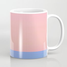 Dual Tone Abstract Horizon Peach Sky Blue Coffee Mug