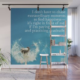 Gratitude and happiness Wall Mural