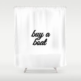 Bad Advice - Buy a Boat Shower Curtain