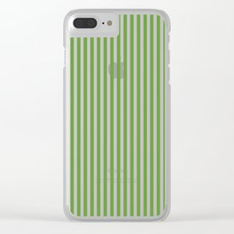 CVS0076 Avocado Green and White Stripes Pattern Clear iPhone Case