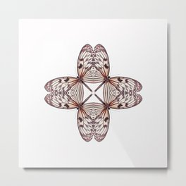 Rice Paper Butterfly Symmetry Metal Print