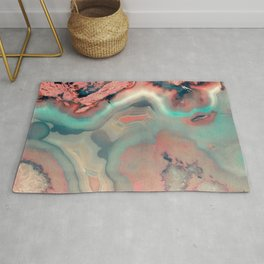 Living Coral and Water Agate Rug