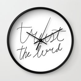 Trust the Lord - Christian Lettering Wall Clock