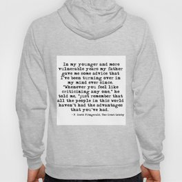 In my younger and more vulnerable years - F Scott Fitzgerald Hoody