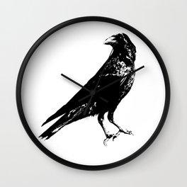 Lone Raven Wall Clock