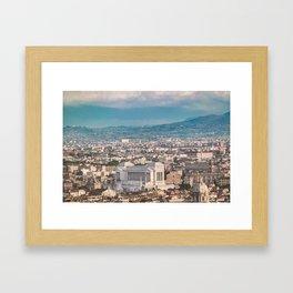 Rome Aerial View at Saint Peter Basilica Viewpoint Framed Art Print