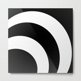 Black & White 360 Metal Print