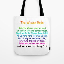 The Wiccan Rede Tote Bag