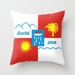 Sochi 2014 flag - Authentic version Throw Pillow