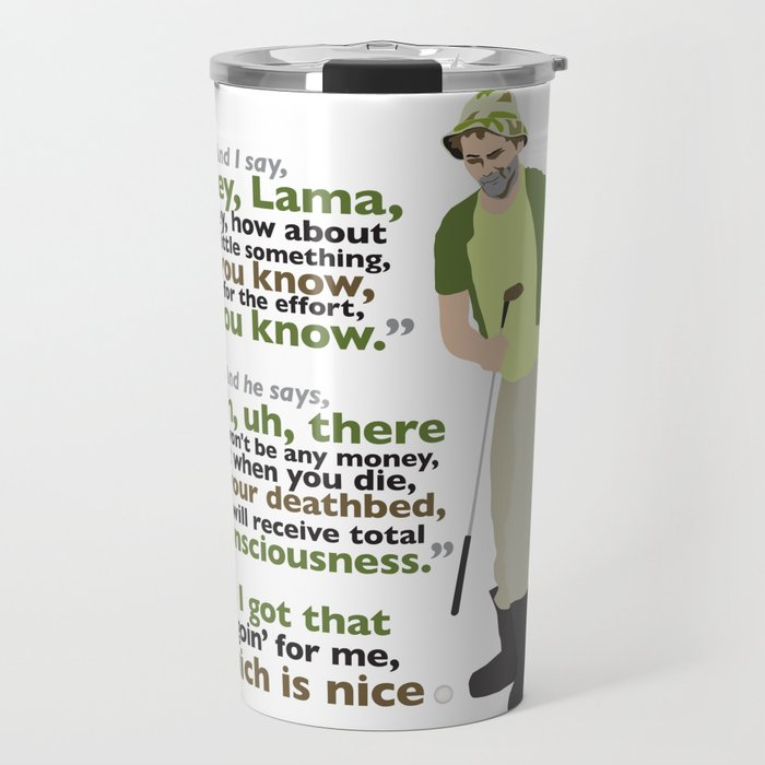 Carl Spackler and the Lama Travel Mug