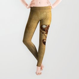 Steampunk Chameleon Vintage Style Leggings