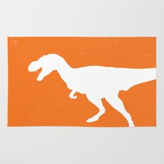 T-rex Orange Dinosaur Rug