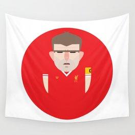 Steven Gerrard Liverpool Illustration Wall Tapestry