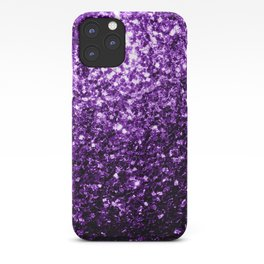 Beautiful Dark Purple glitter sparkles iPhone Case