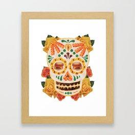 """Mexican Day of the Dead Bacon Sugar Skull """"Calavera de Comida"""" Framed Art Print"""