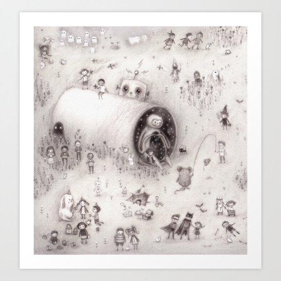Big Crunch ( crop from spread 2.) Art Print