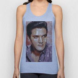 Elvis Presley Painting Unisex Tank Top
