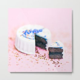 Faygo Glitter Cake Metal Print