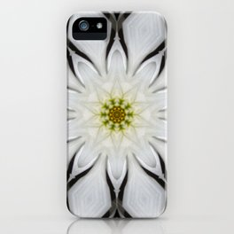 White Flower Design iPhone Case