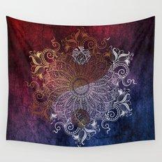 Mandala - Fire & Ice, yang version Wall Tapestry