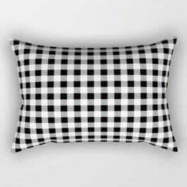 Modern black white picnic 80s print pattern Rectangular Pillow