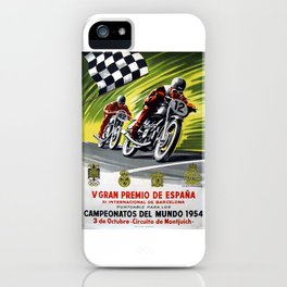 Vintage V Gran Premio De Espana iPhone Case