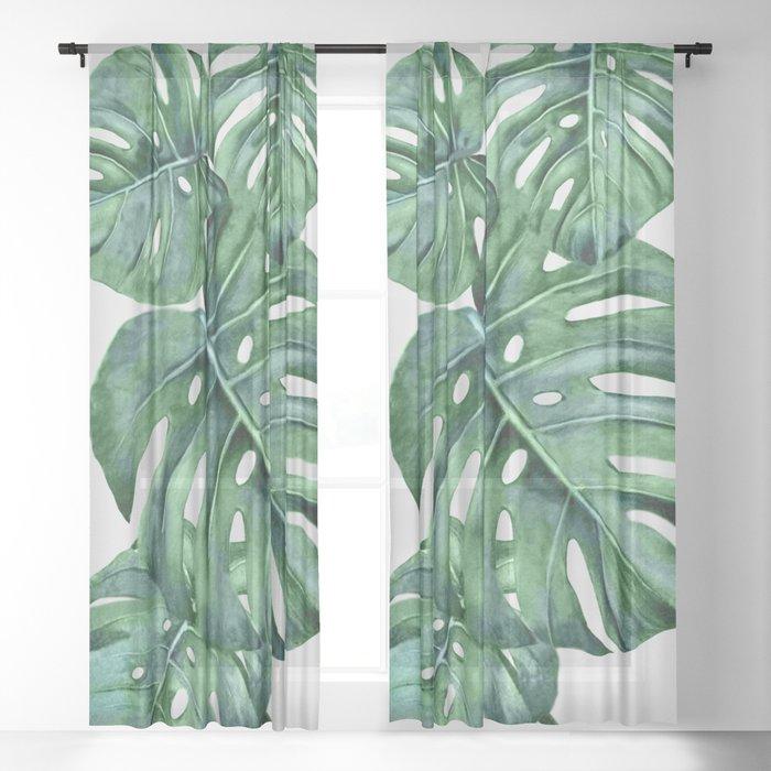 Monstera Sheer Curtain