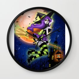 Wicca Wall Clock