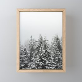 Winter Forest Fir Tree Snow III - Nature Photography Framed Mini Art Print