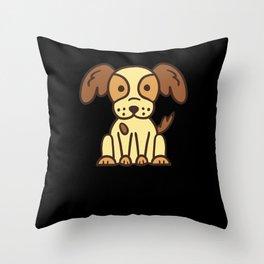 Cute Dog Shirt Throw Pillow