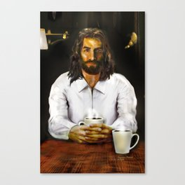 Coffee With Jesus Canvas Print