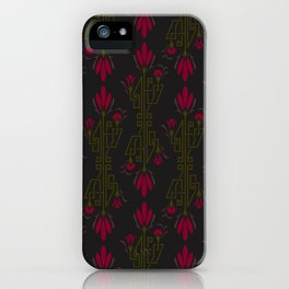 Flowers for a New Age - Art Deco Floral Inspired Pattern iPhone Case
