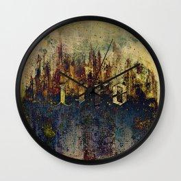 LIFE CITY AMBIGRAM Wall Clock