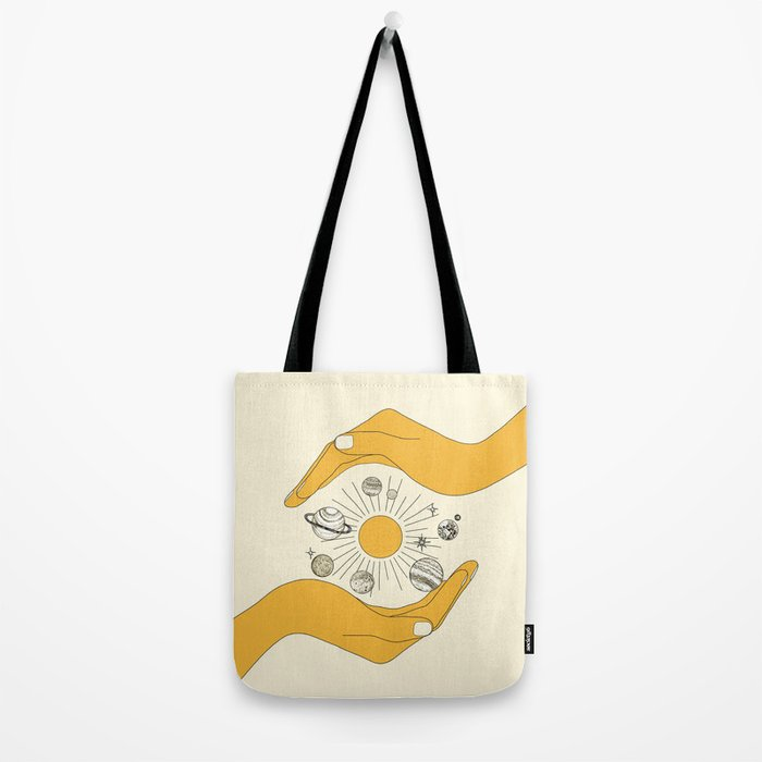 The Universe in Your Hands Tote Bag