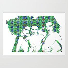 Models: Eniko, Abbey & Magdalena Art Print