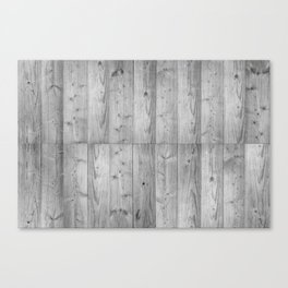Wood Planks in black and white Canvas Print