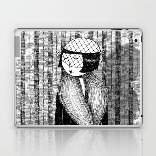 She thought of her cats and wished she was home Laptop & iPad Skin